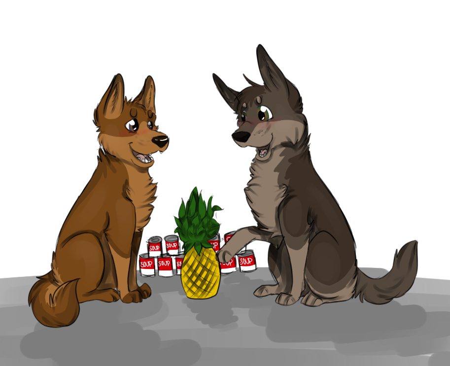 Pineapples And Soup by DeisalWolf87