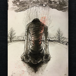 Man on Fire by CloudSwallowingMan