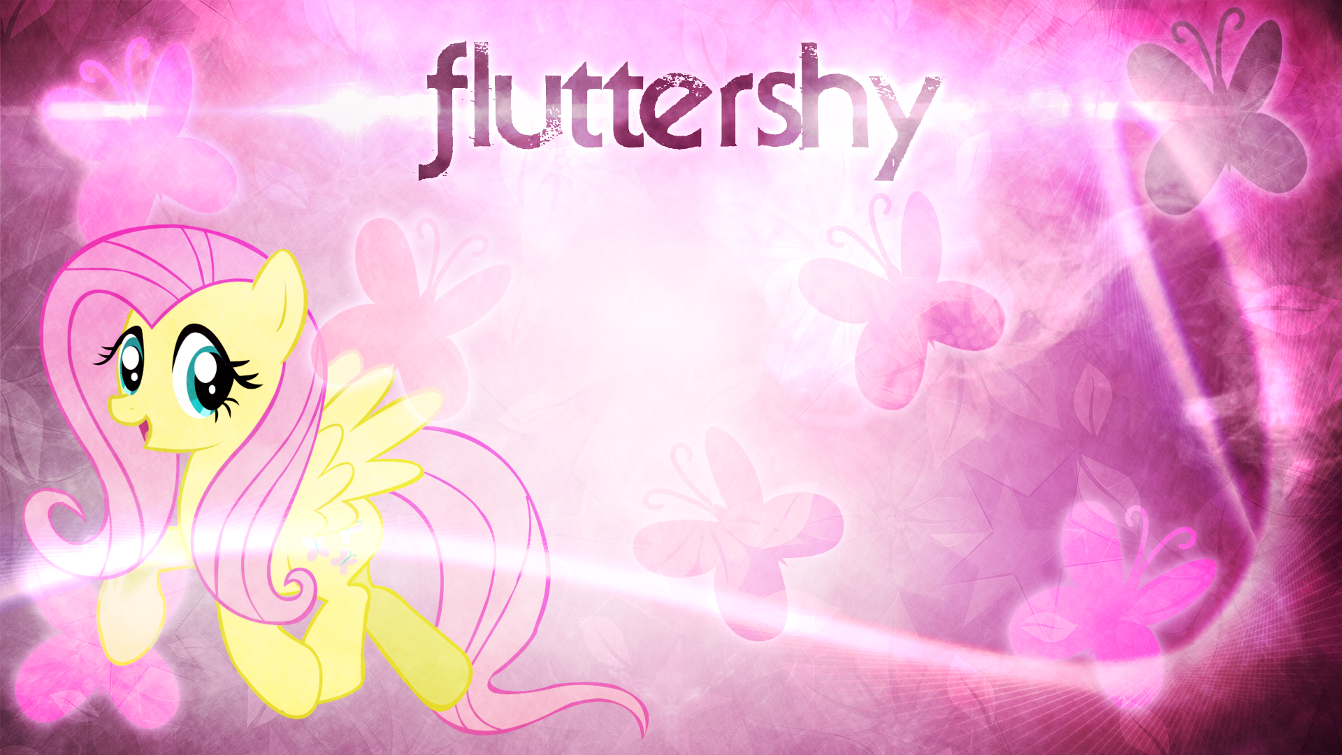 Fluttershy Wallpaper by FroyoShark
