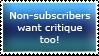 Non-subscriber critique stamp by TemplatesForYou