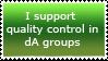 dA groups quality control by TemplatesForYou