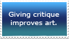 Give critique stamp by TemplatesForYou