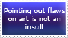 Critiquing is not insult stamp by TemplatesForYou