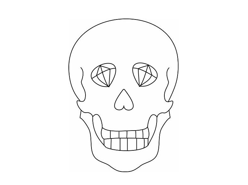 Skull Outline   Car Interior Design