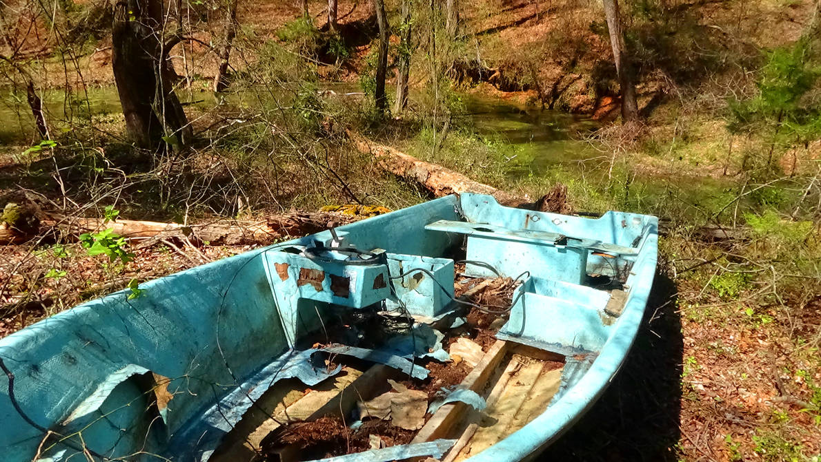 Boat in the Woods 6 by FordPrefectWonTheBet