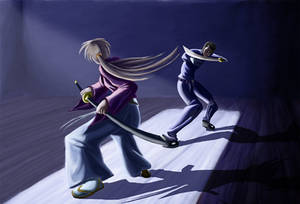 Kenshin and Saito Duel