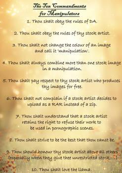 Manippers Ten Commandments