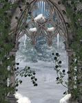 Black Rose Winter Window