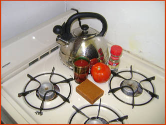 Tomato Juice and Tomato Soap by Calisaroa