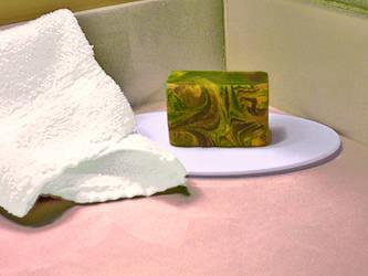 Green Clover and Aloe Soap by Calisaroa