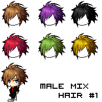 [MS]Male Mix Hair #1 by Kuzato
