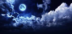 Full Moon Night Bright Sky