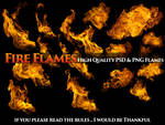 Fire Flames HD PSD AND PNG For Free by Gilgamesh-Art