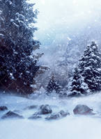 PREMIUM Background 4 - Snow Forest by Gilgamesh-Art