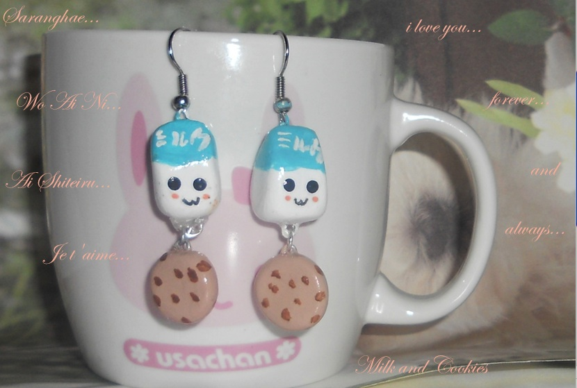 Milk and Cookies Earrings by pikhachu