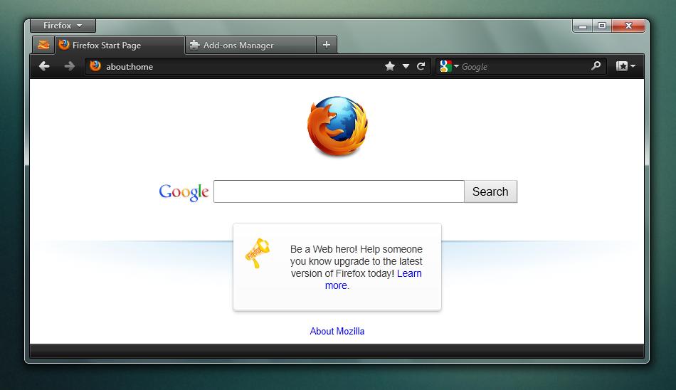 Espada - Firefox Theme Mockup by muckSponge