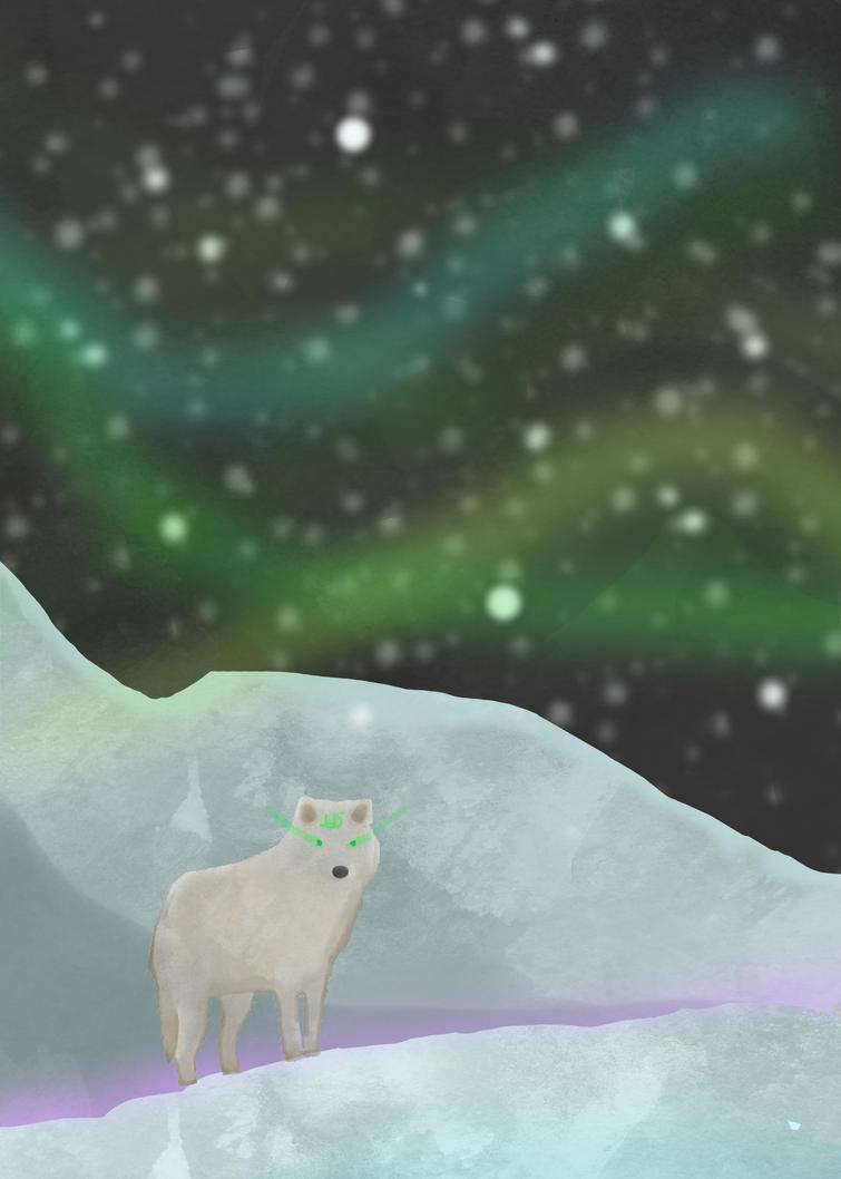 Aurora landscape by JustPlainOdd