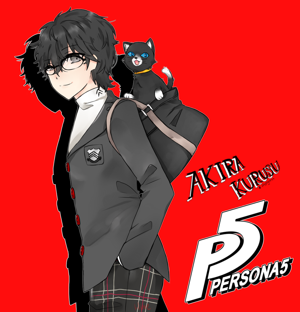 _speedpaint__persona_5_akira_and_morgana