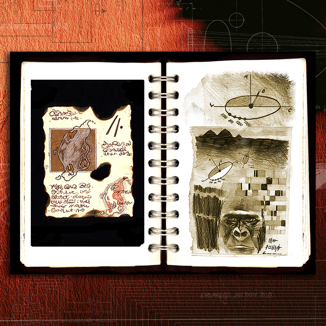 Sketch Works: Book 2 10 'map A is for Apethought' by phenoxa