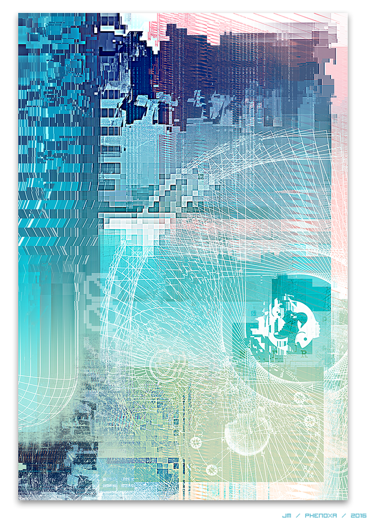 Untitled Postdigital Abstract by phenoxa