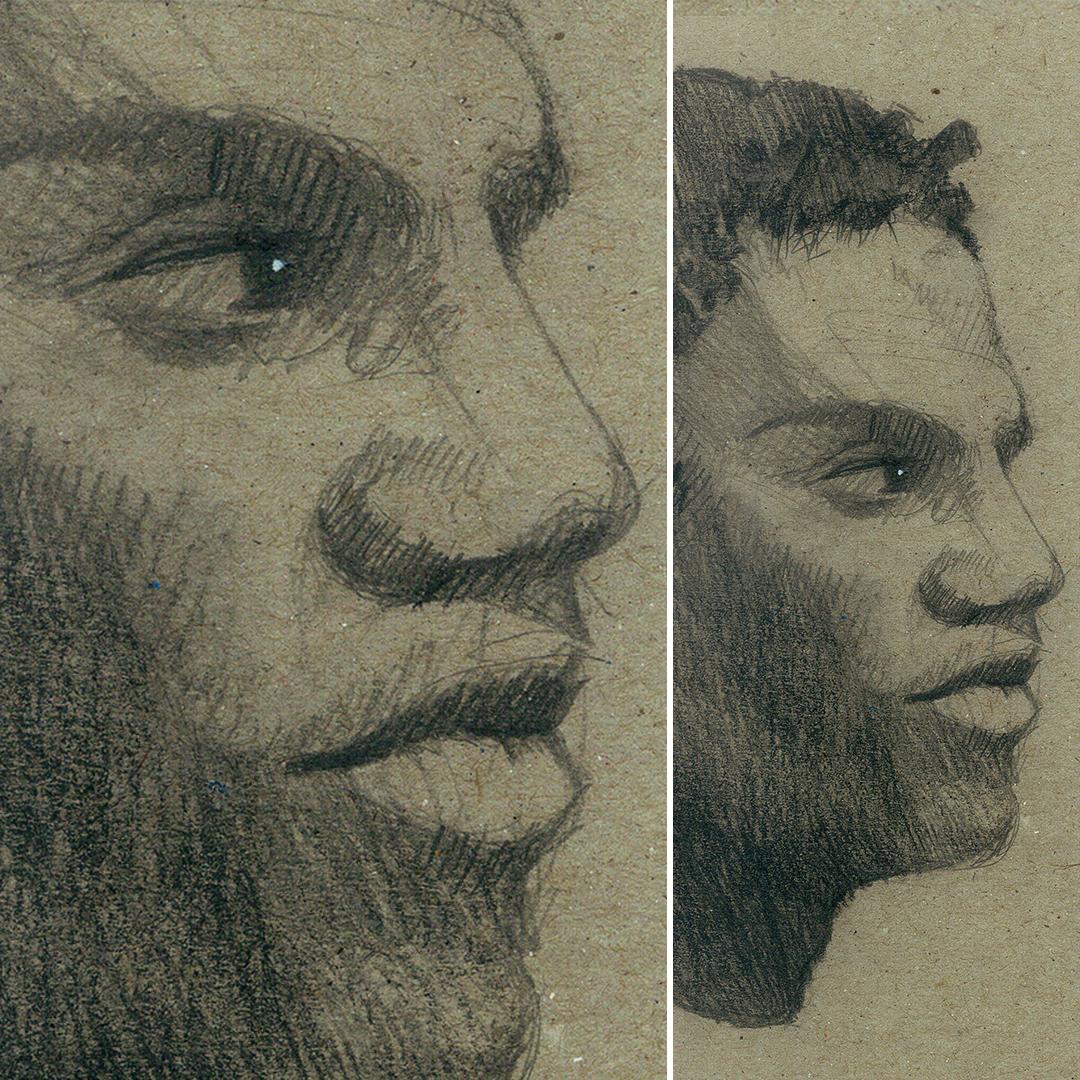 Sketch on board, in progress by phenoxa