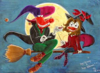 Halloweenish Birthday by Merani
