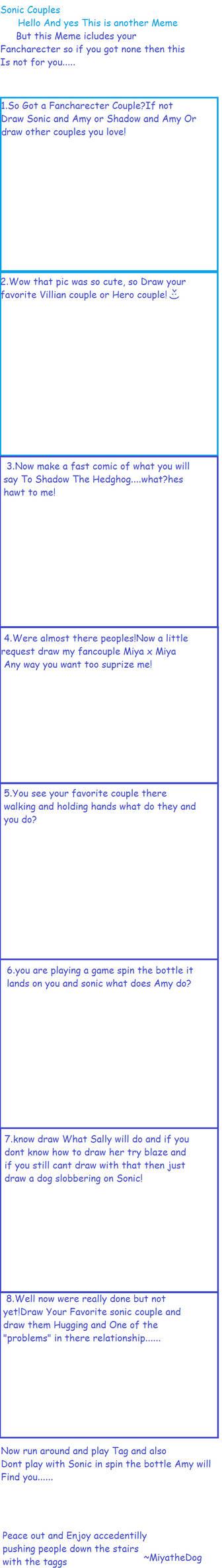 Sonic Couple Meme Blank by miyathedog on DeviantArt
