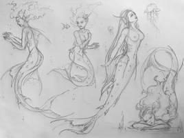 Mermaid princess Sketch