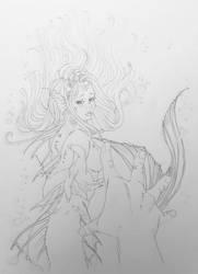 Mermaid In The Ocean Line