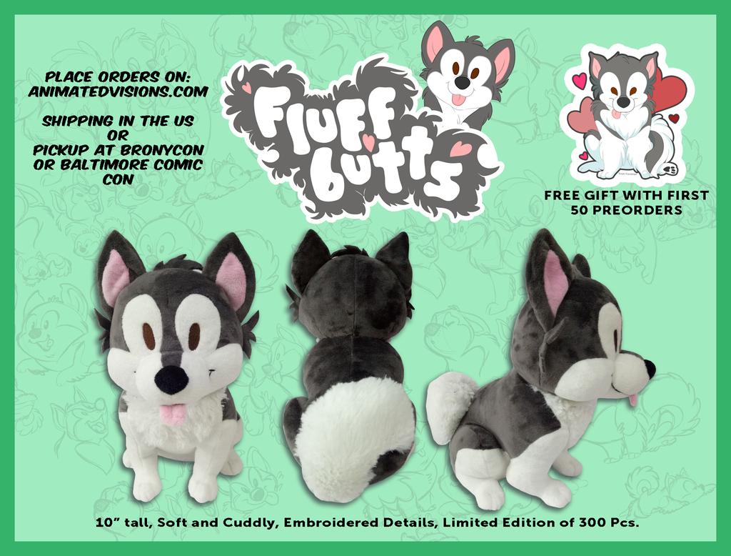 Fluffbutts Plush by nanook123
