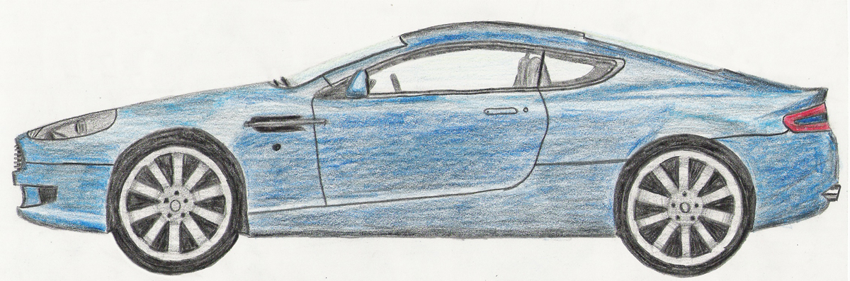 Aston Martin Db9 Drawing By Darth4114 On Deviantart