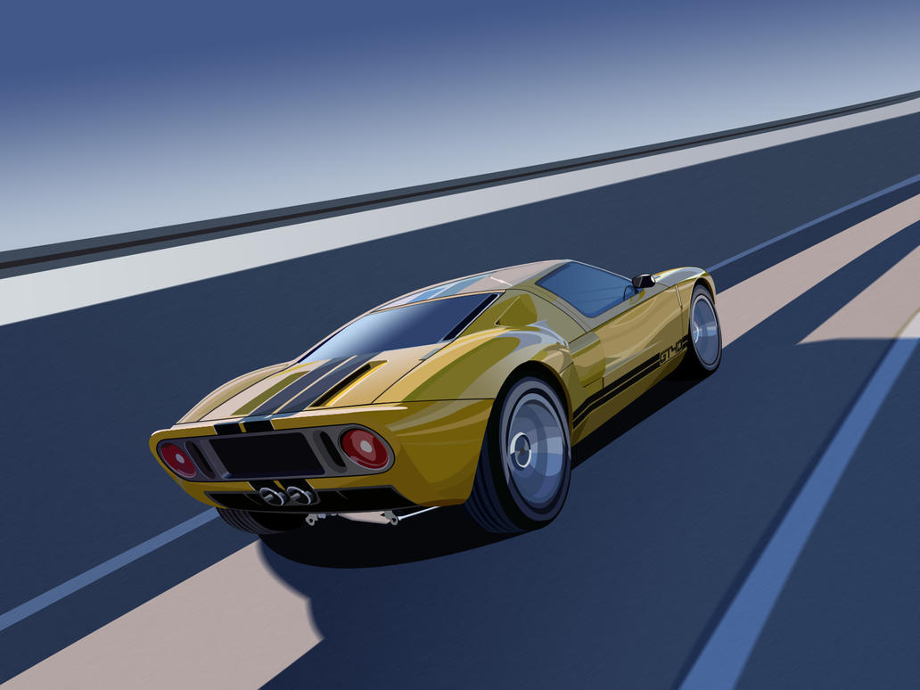 Ford Gt Vector Art By Darth