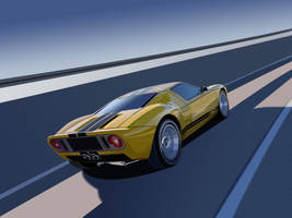 Ford GT Vector Art by Darth4114