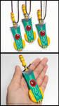 Transistor Sword Charm Necklace