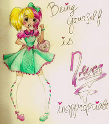 Being Yourself is NEVER innapropriate by Nombee-Zombie