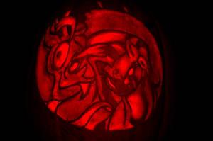 Discord Ayasha Pumpkin Carving by elbdot
