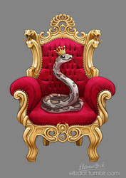 COMMISSION: Fables - King of Snakes by elbdot