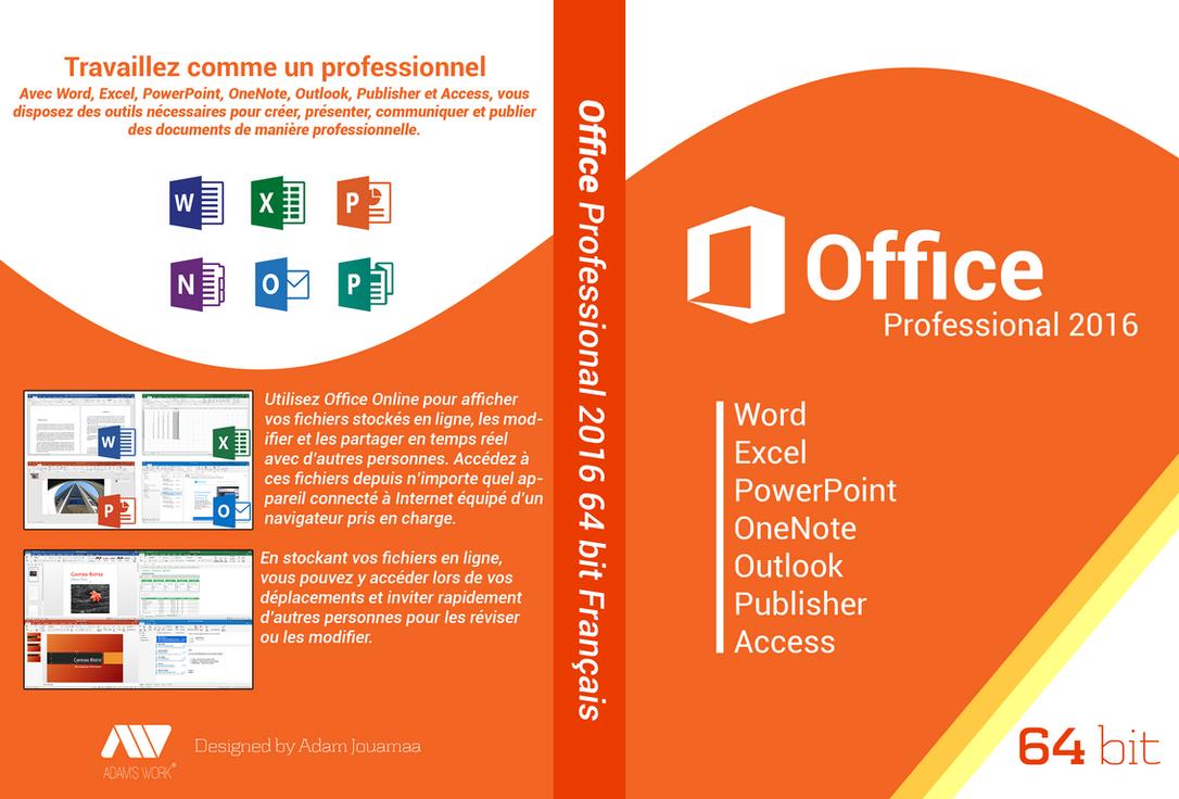 Office 2016 Professional 64bit Francais Dvd cover