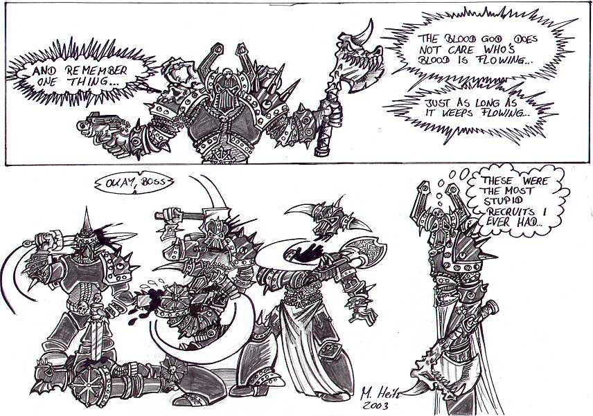 Khorne Berserkers by Inquisitor-Hein on DeviantArt