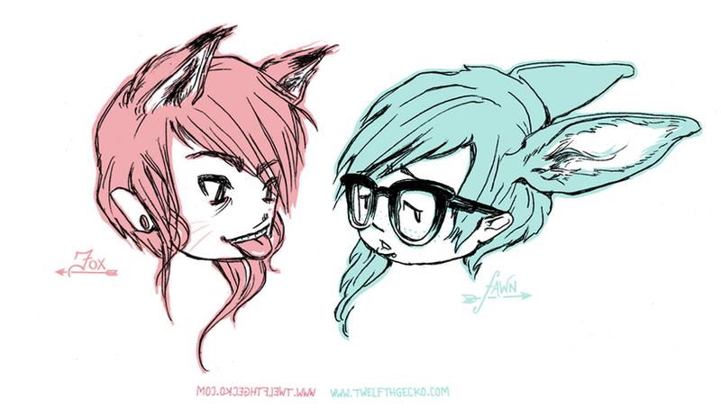 Fox and Fawn by Twelfthgecko