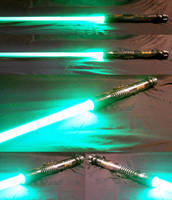 Star Wars Lightsaber with green blade by vadeblade
