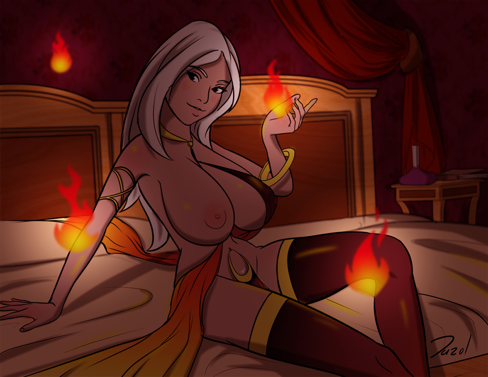 Commission:  Seraphina, the great fire dancer!! by Dazol1