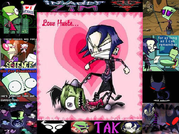 Invader Zims Tak Cake Ideas and Designs Zim And Tak Love Story