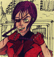 Tough Fighter, Isn't She? by Tete-DePunk