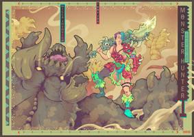 Monster hunter movie fan art Ilustration by GodsDemonsMen