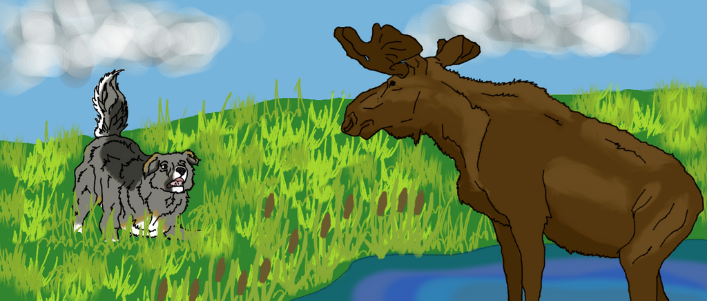 Moose Hunting title by VAFAVale