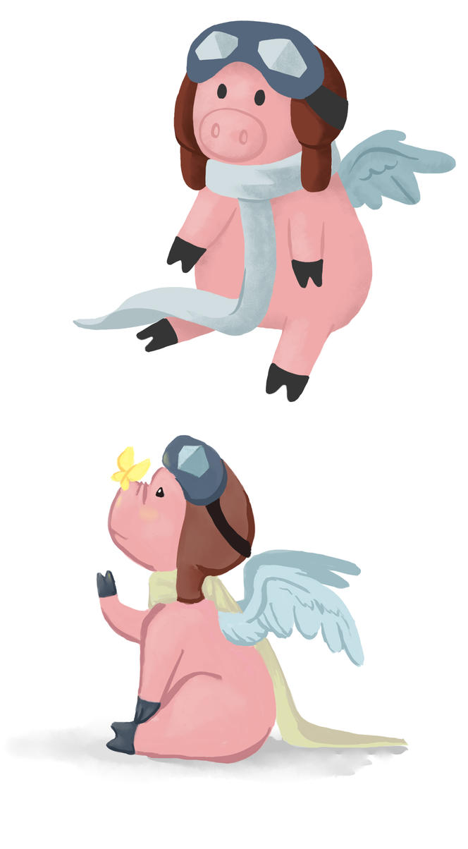 Lulu the Flying Pig by doppelgangergrl