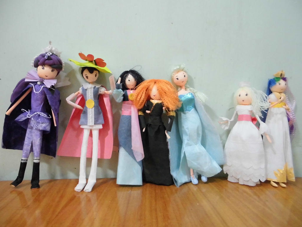 Paper Doll - Seven Princesses by ojamajomary