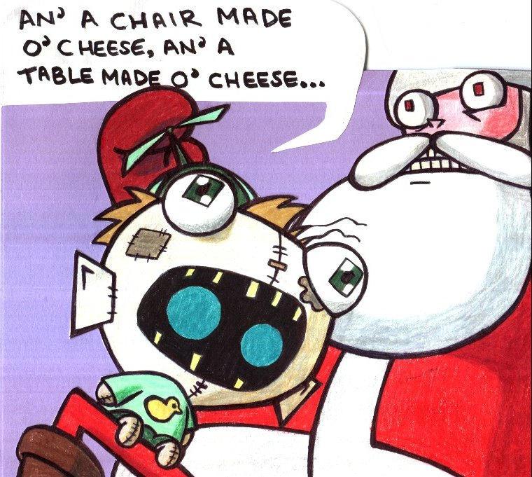 Gir and Santa Christmas Card by champythestripe