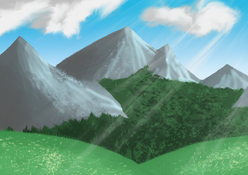 Mountains by ninjahyena